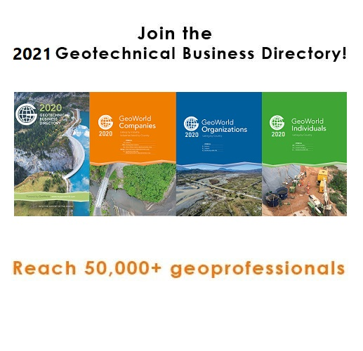 Join the 2021 Geotechnical Business Directory today!